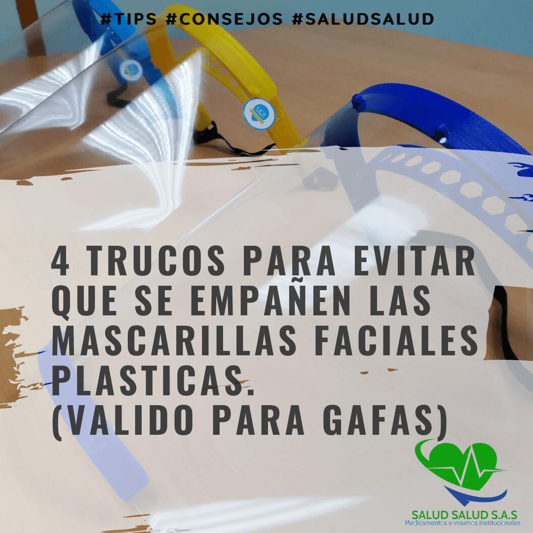 4 trucos para evitar que se empañen las mascarillas faciales plasticas. (VALIDO PARA GAFAS)
