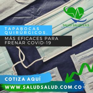 Tapabocas quirúrgicos, eficaces para frenar covid-19, según estudio